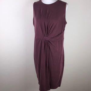 Worthington XL burgundy wrap dress